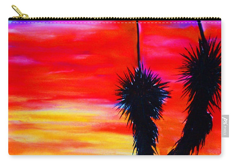 Sunset Carry-all Pouch featuring the painting Paso Del Norte Sunset 1 by Melinda Etzold