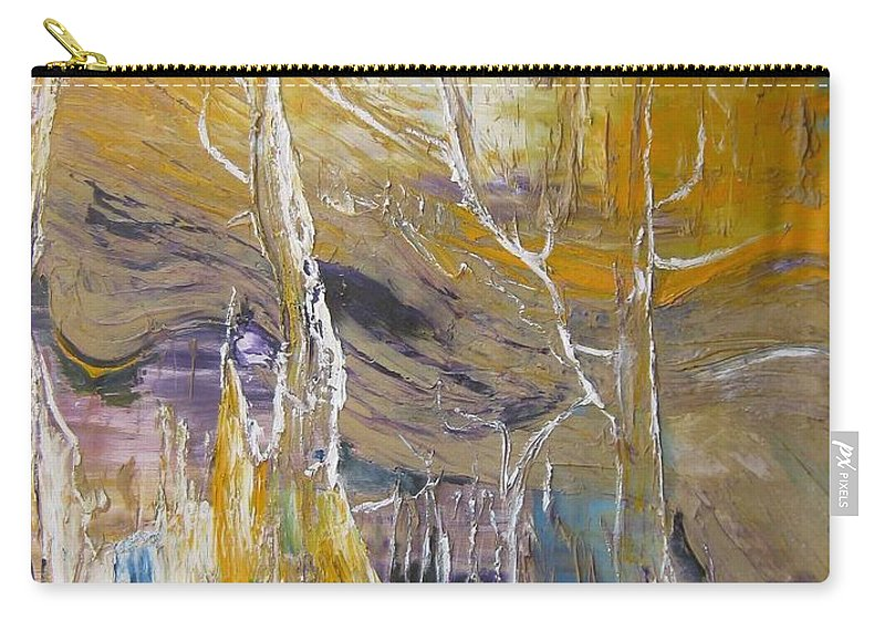 Swamp Carry-all Pouch featuring the painting Passing Through by Peggy Blood