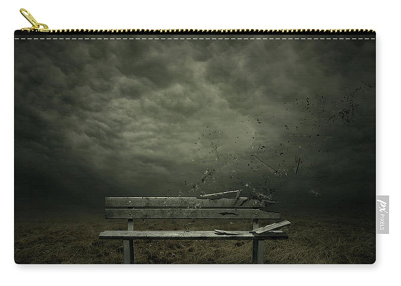 Bench Carry-all Pouch featuring the digital art Passing by Zoltan Toth