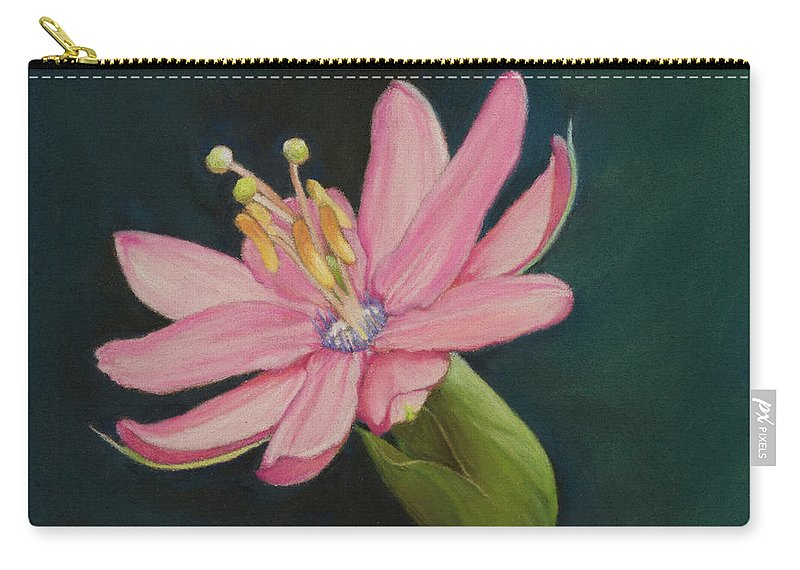 Still Life Carry-all Pouch featuring the painting Passion Flower by Xenia Sease