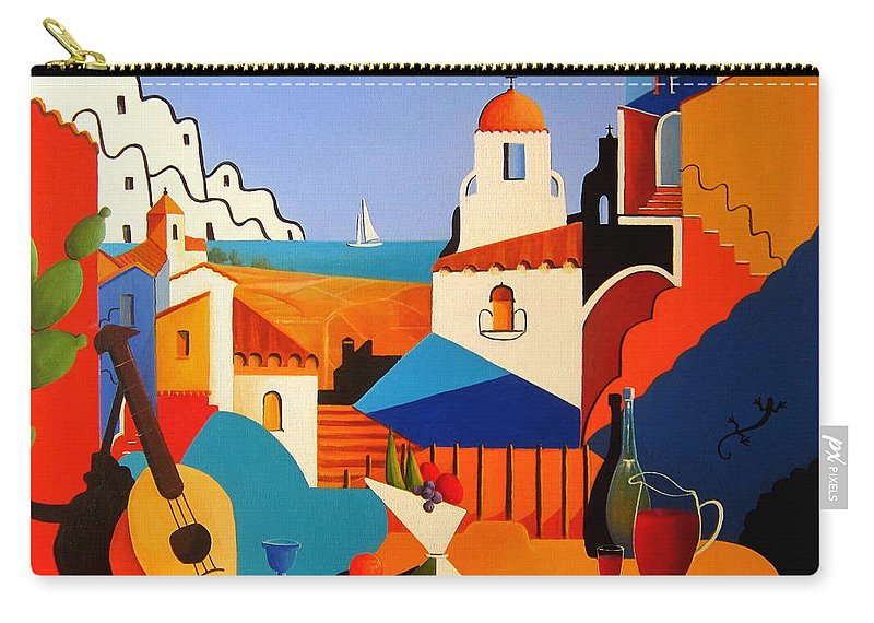 Passion For Life Carry-all Pouch featuring the painting Passion For Life Spain by Ray Gilronan