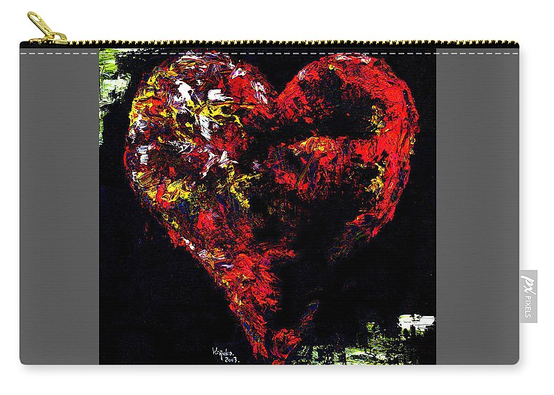 Heart Carry-all Pouch featuring the painting Passion by Hiroko Sakai