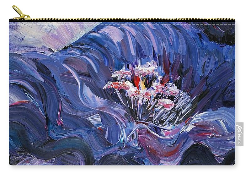 Blue Carry-all Pouch featuring the painting Passion In Blue by Nadine Rippelmeyer