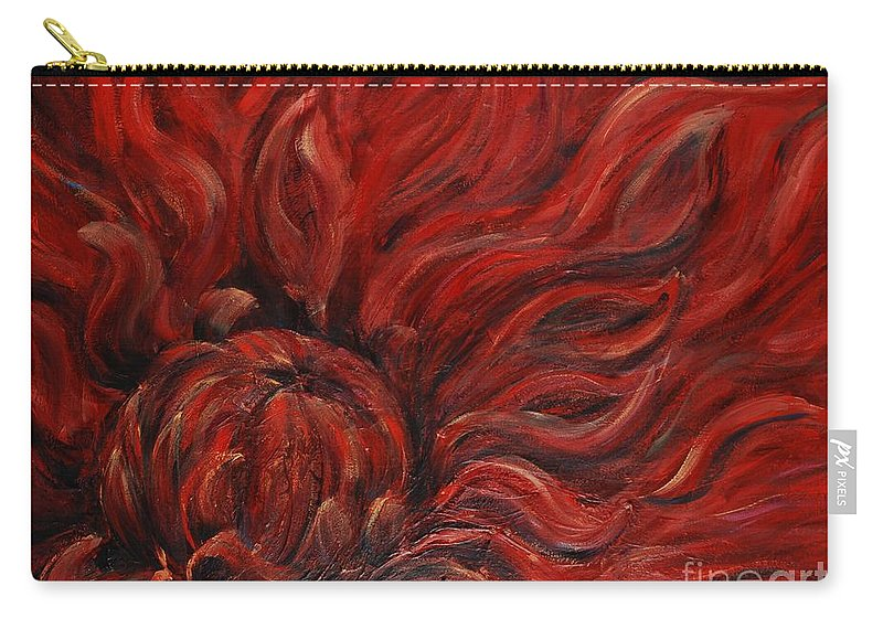 Flower Carry-all Pouch featuring the painting Passion Iv by Nadine Rippelmeyer