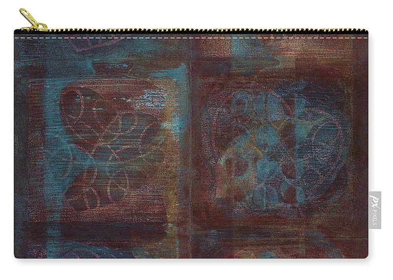 Australia Carry-all Pouch featuring the painting Passion Play - Six Of Hearts by Kerryn Madsen - Pietsch
