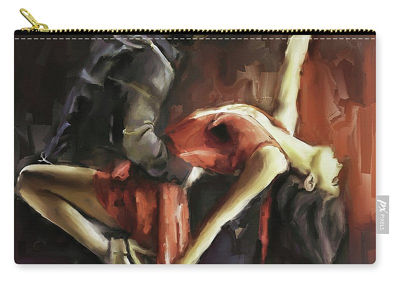 Dance Carry-all Pouch featuring the painting Passionate by Gull G