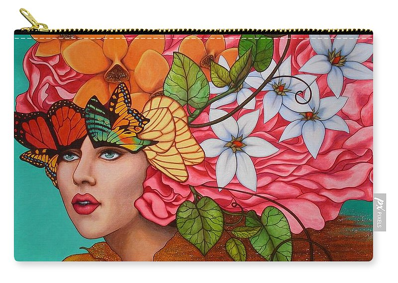 Woman Carry-all Pouch featuring the painting Passionate Pursuit by Helena Rose