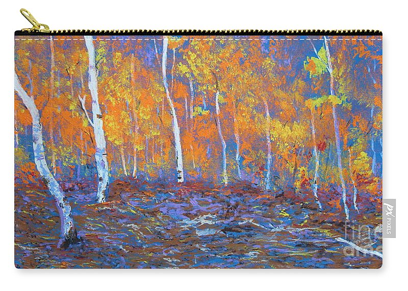 Nature Carry-all Pouch featuring the painting Passions Of Fall by Stefan Duncan