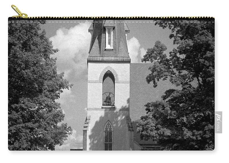 Blacj And White Carry-all Pouch featuring the photograph Past Congregation by Scott Wyatt