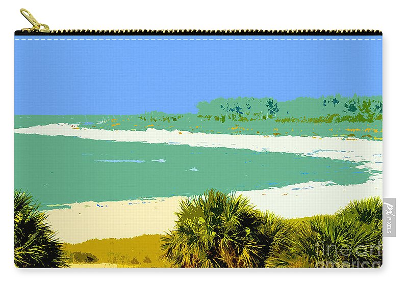 Art Carry-all Pouch featuring the painting Pastel Beach by David Lee Thompson