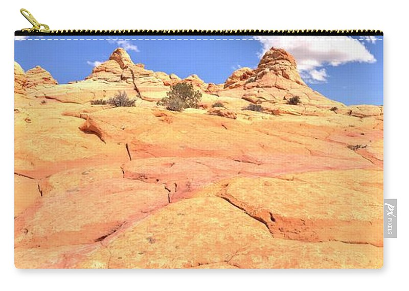 Pastel Checkerboard Carry-all Pouch featuring the photograph Pastel Checkerboard by Adam Jewell