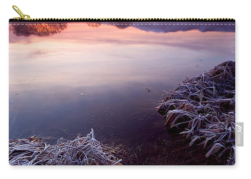 Lake Carry-all Pouch featuring the photograph Pastel Dawn by Mike Dawson