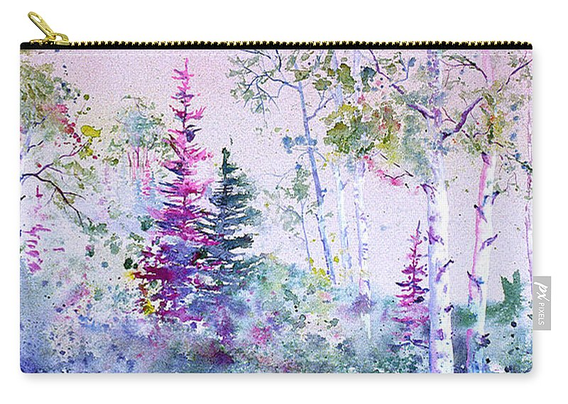 Trees Carry-all Pouch featuring the painting Pastel Forest by Connie Williams