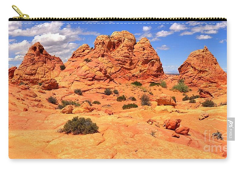 Utah Panorama Carry-all Pouch featuring the photograph Pastel Petrified Sand Dunes by Adam Jewell