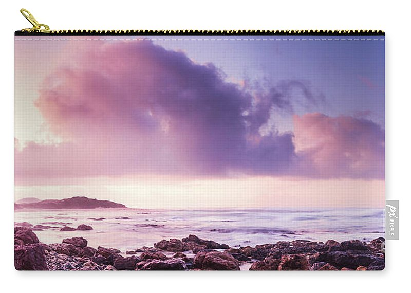 Purple Carry-all Pouch featuring the photograph Pastel Purple Seashore by Jorgo Photography - Wall Art Gallery