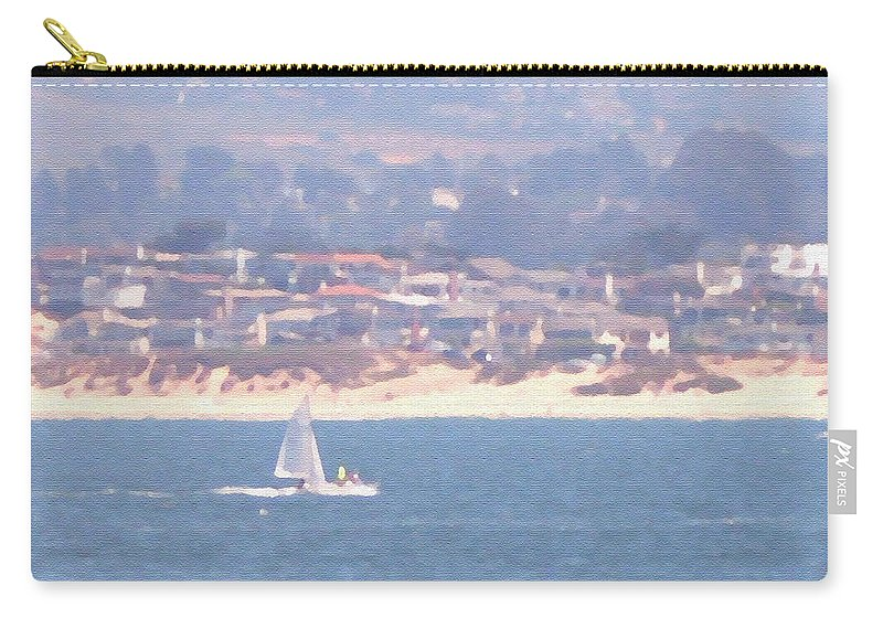 Sailing Carry-all Pouch featuring the photograph Pastel Sail by Pharris Art