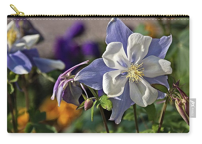 Pastel Carry-all Pouch featuring the photograph Pastel Spring Flowers by Tatiana Travelways