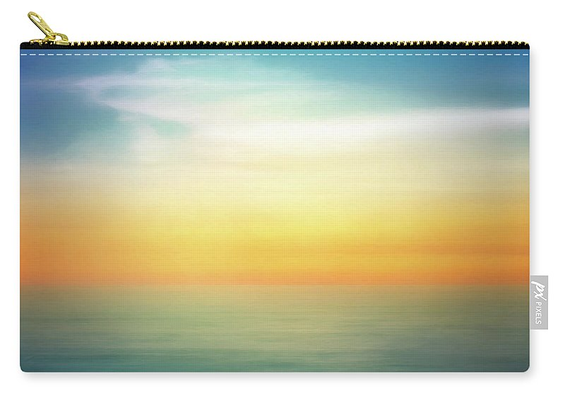 Pastel Carry-all Pouch featuring the digital art Pastel Sunrise by Scott Norris