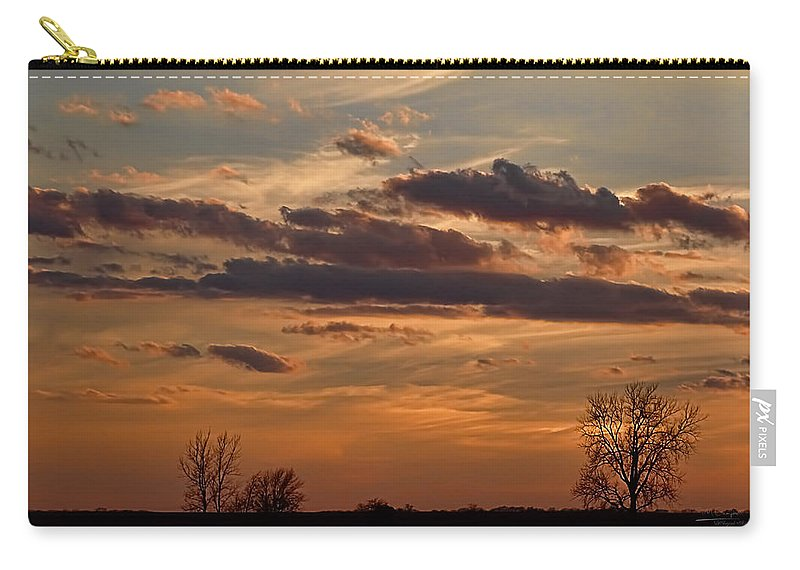 Theresa Campbell Carry-all Pouch featuring the photograph Pastel Sunset by Theresa Campbell