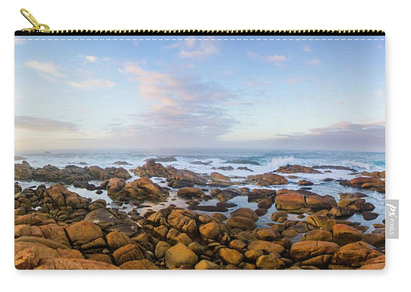 Landscape Carry-all Pouch featuring the photograph Pastel Tone Seaside Sunrise by Jorgo Photography - Wall Art Gallery