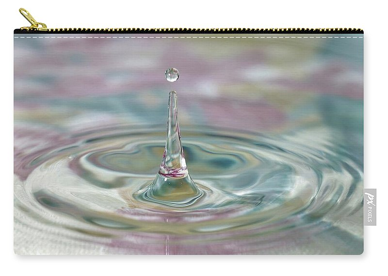 Water Drop Carry-all Pouch featuring the photograph Pastel Water Sculpture 2 by Kristina Jones