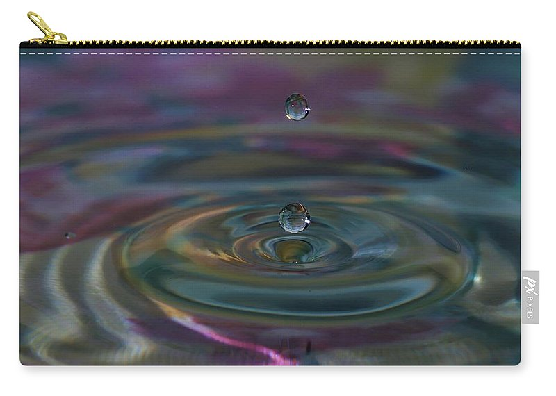 Water Drop Carry-all Pouch featuring the photograph Pastel Water Sculpture 7 by Kristina Jones