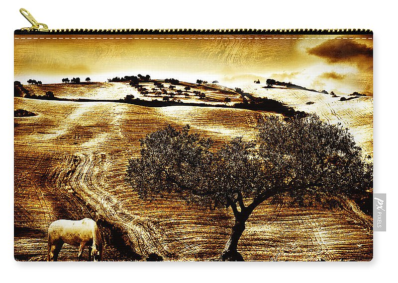 Landscape Carry-all Pouch featuring the photograph Pastelero Textures by Mal Bray
