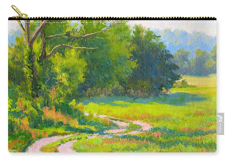 Landscape Carry-all Pouch featuring the painting Pasture Road by Keith Burgess