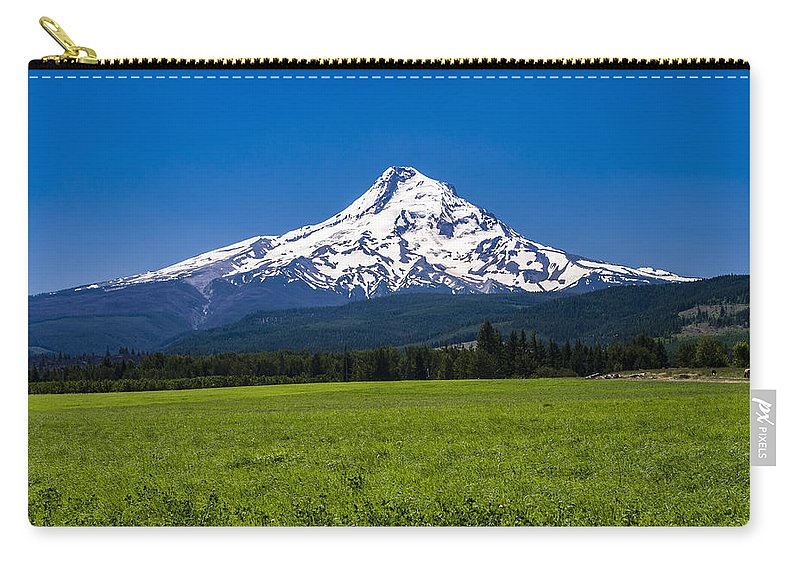 Agriculture Carry-all Pouch featuring the photograph Pasture View Of Mt. Hood by John Trax