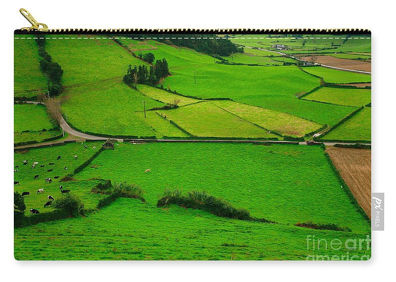 Dairy Carry-all Pouch featuring the photograph Pastures In The Azores by Gaspar Avila
