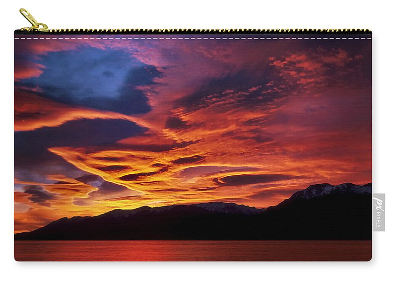 Patagonia Carry-all Pouch featuring the photograph Patagonian Sunrise by Joe Bonita