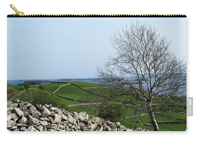 Irish Carry-all Pouch featuring the photograph Patchwork Quilt Lough Corrib Maam Ireland by Teresa Mucha