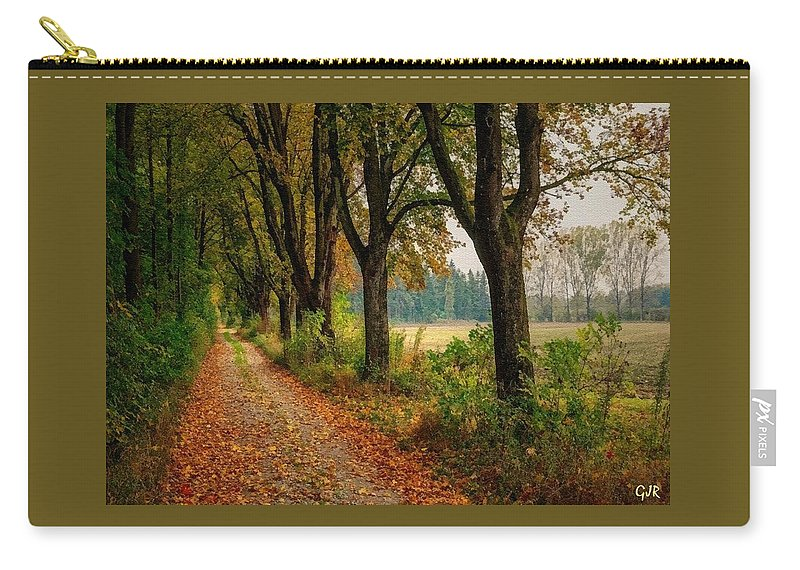 Catholic Carry-all Pouch featuring the digital art Path Along The Horses Meadow On The Farm Lovedayvale L A S by Gert J Rheeders
