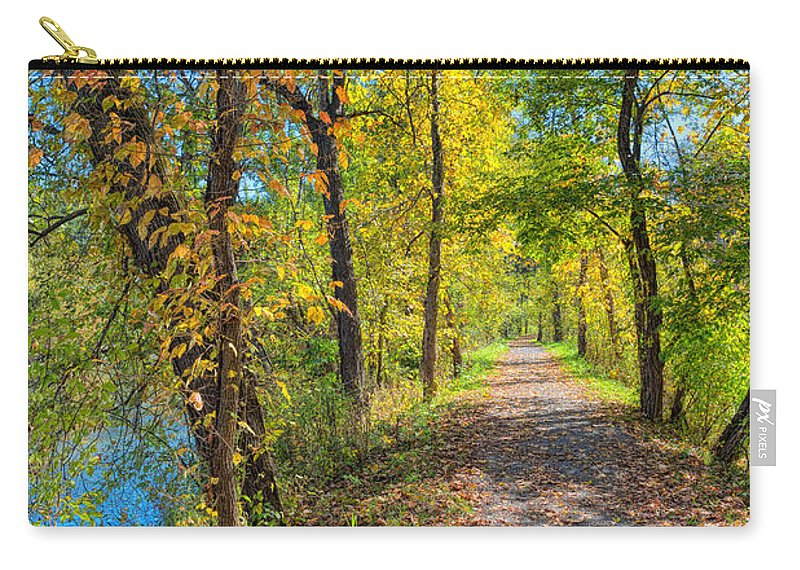 Sky Carry-all Pouch featuring the photograph Path Through Fall by John M Bailey