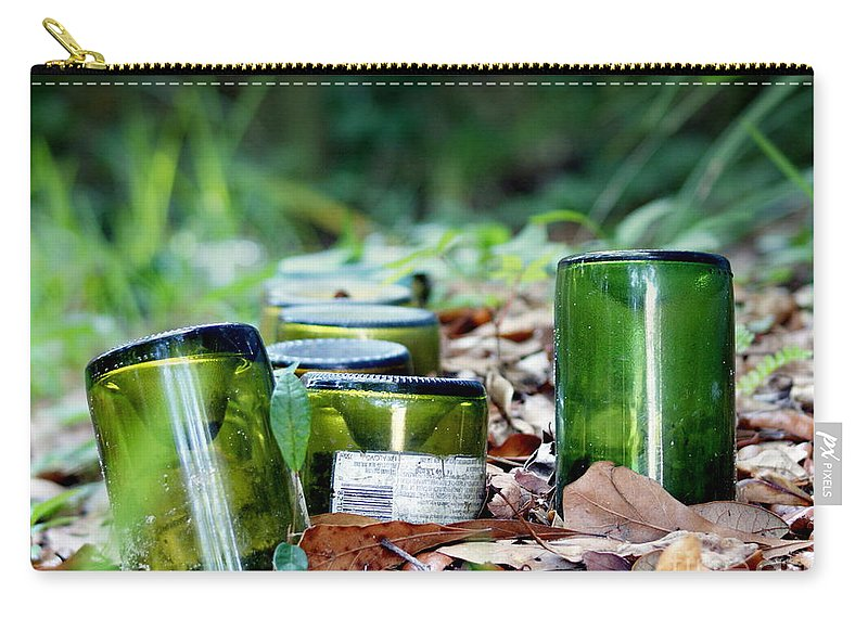 Bottles Carry-all Pouch featuring the photograph Path To Intoxication by Jennifer Diaz