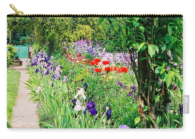 Claude Monet Carry-all Pouch featuring the photograph Path To Monet's House by Nadine Rippelmeyer