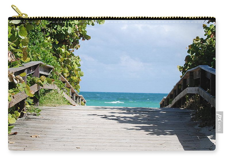 Sea Scape Carry-all Pouch featuring the photograph Path To Paradise by Rob Hans