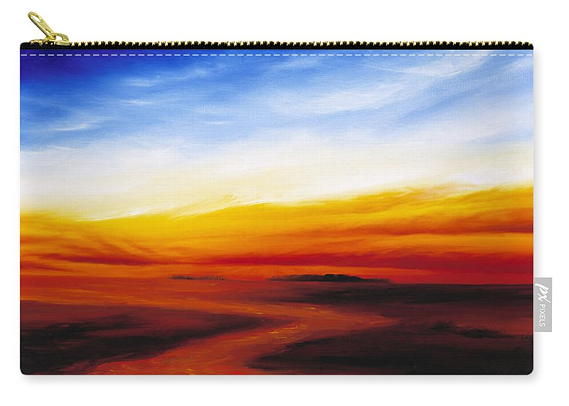 Sunrise Carry-all Pouch featuring the painting Path To Redemption by James Christopher Hill
