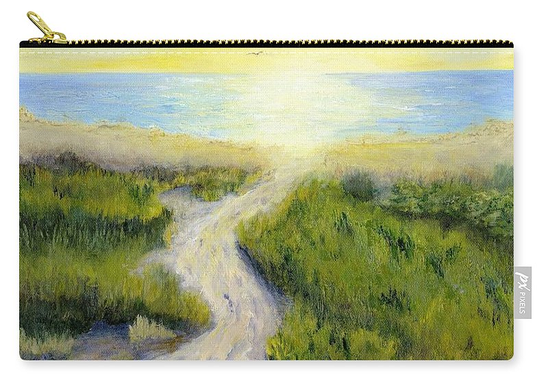 Beach Carry-all Pouch featuring the painting Path To Serenity by Deborah Butts