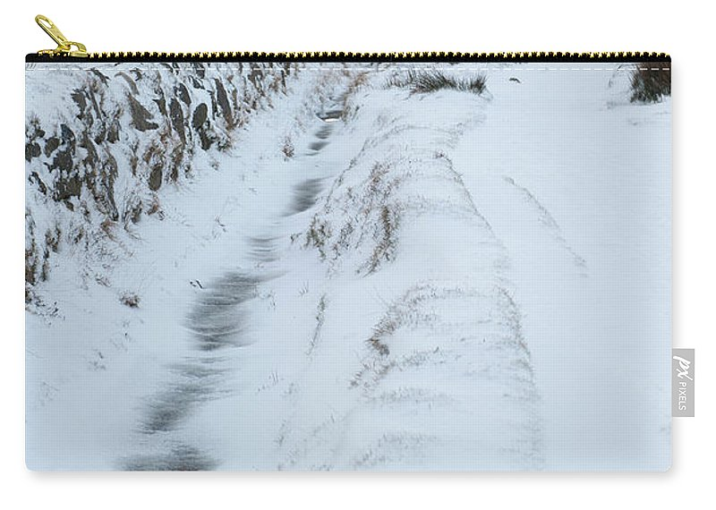Snow Carry-all Pouch featuring the photograph Path To South Hessary Tor IIi by Helen Northcott