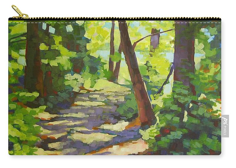Landscape Carry-all Pouch featuring the painting Path To The Lake by Mary McInnis