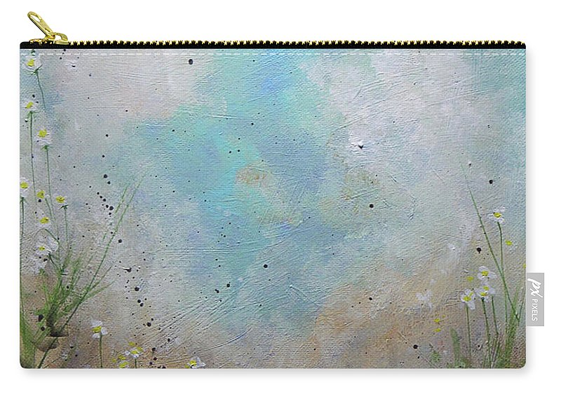 Beach Carry-all Pouch featuring the painting Pathway by KAT Warren