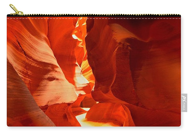 Upper Antelope Canyon Carry-all Pouch featuring the photograph Pathway Through Upper Antelope by Adam Jewell