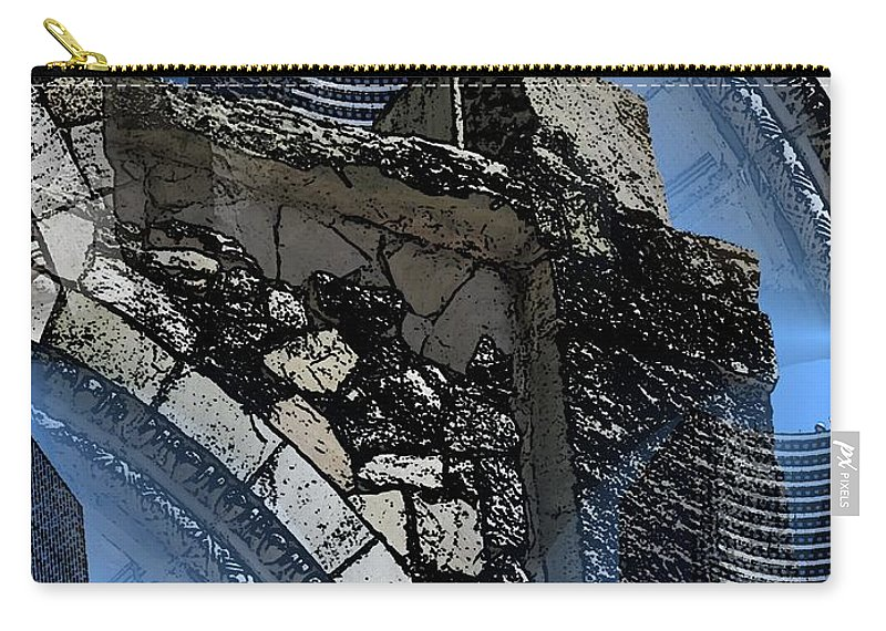 Pathway Carry-all Pouch featuring the digital art Pathway To Present by Tim Allen