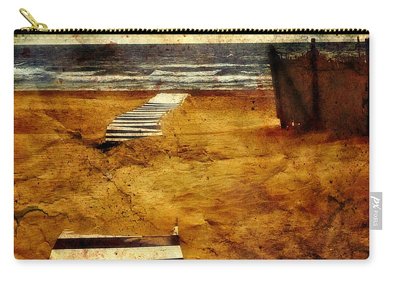 Path Carry-all Pouch featuring the photograph Pathway To The Sea II by Silvia Ganora