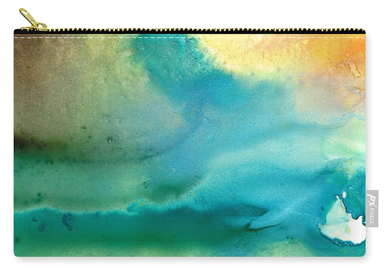 Abstract Art Carry-all Pouch featuring the painting Pathway To Zen by Sharon Cummings