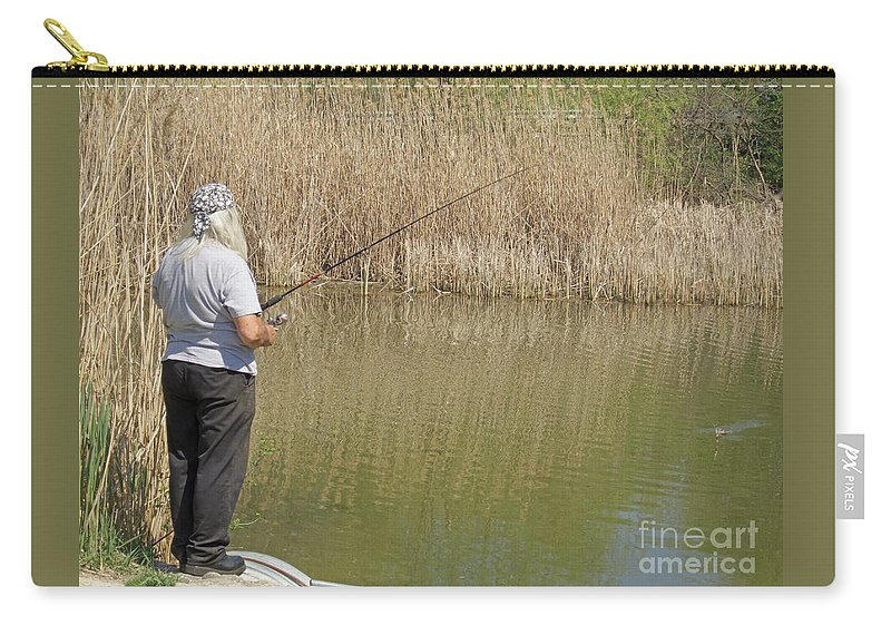 Fishing Carry-all Pouch featuring the photograph Patience Required by Ann Horn