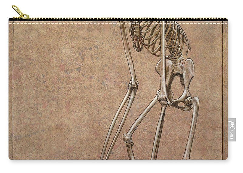 Patience Carry-all Pouch featuring the drawing Patient by James W Johnson