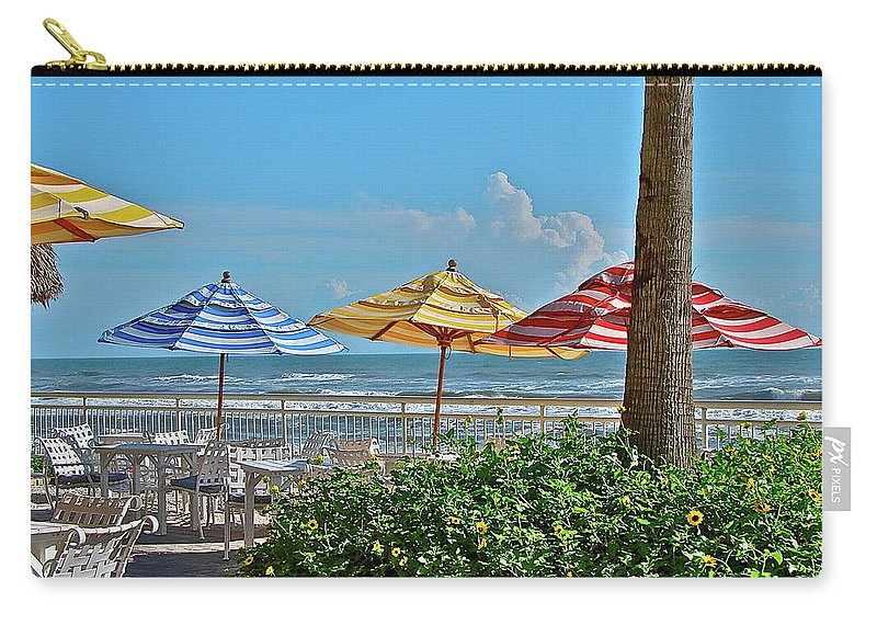 Sea Carry-all Pouch featuring the photograph Patio Dining by Diana Hatcher