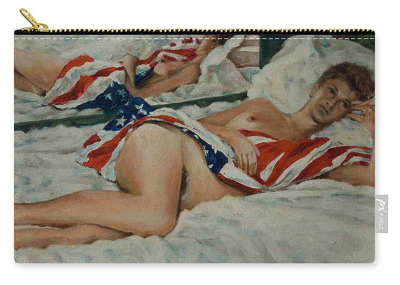 Nude Carry-all Pouch featuring the painting Patricia by Rick Nederlof